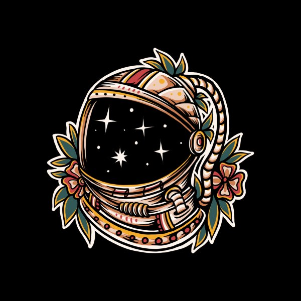image for Floral astro helmet
