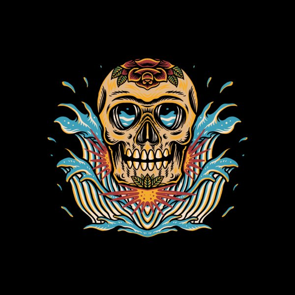 image for Skull and wave