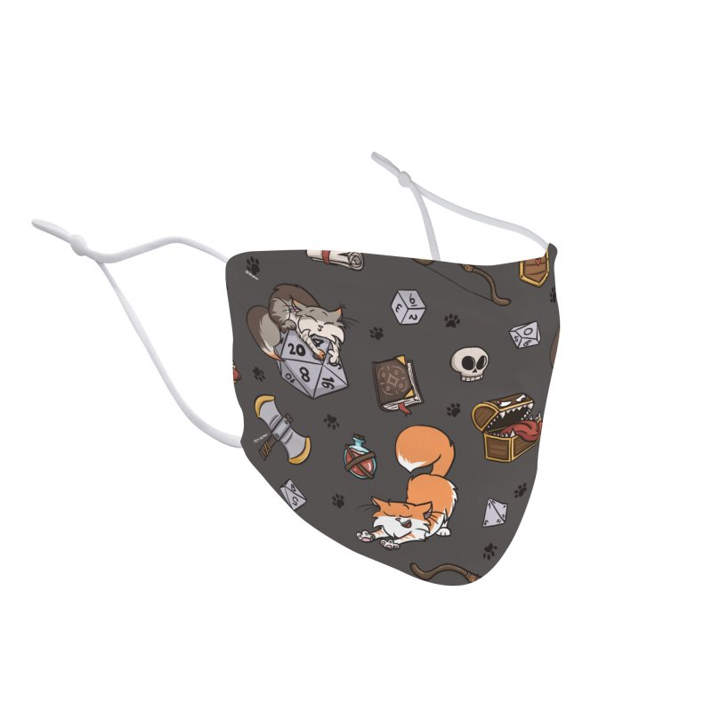 Dungeons and Kitties Accessories Face Mask by Semi Co-op