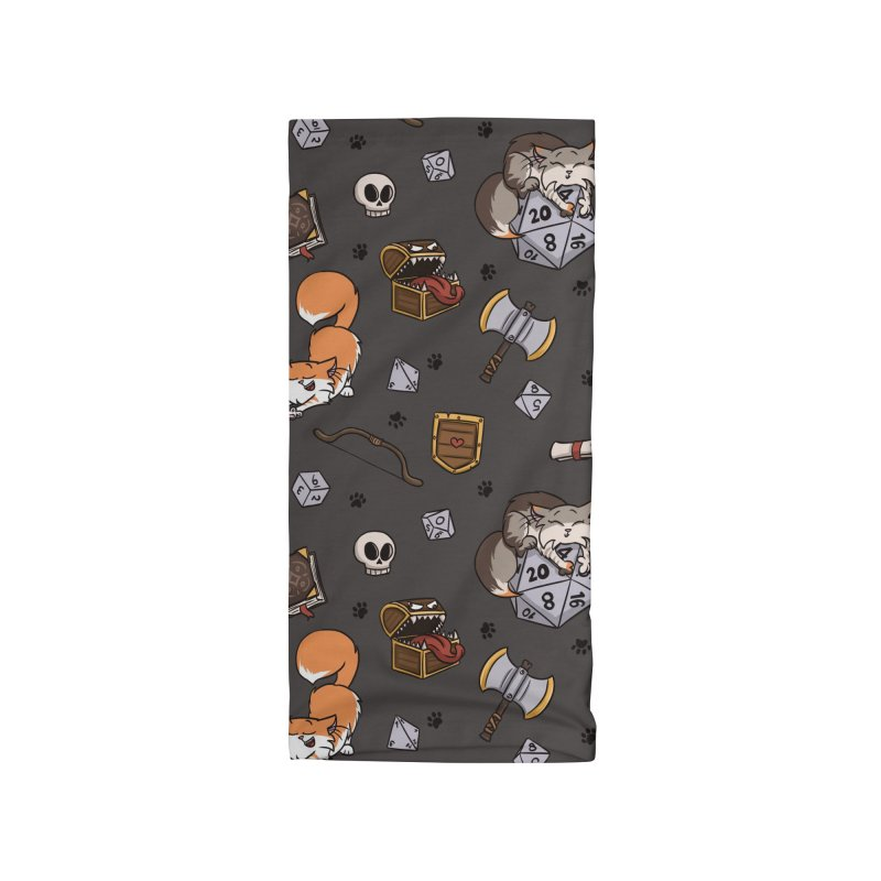 Dungeons and Kitties Accessories Neck Gaiter by Semi Co-op