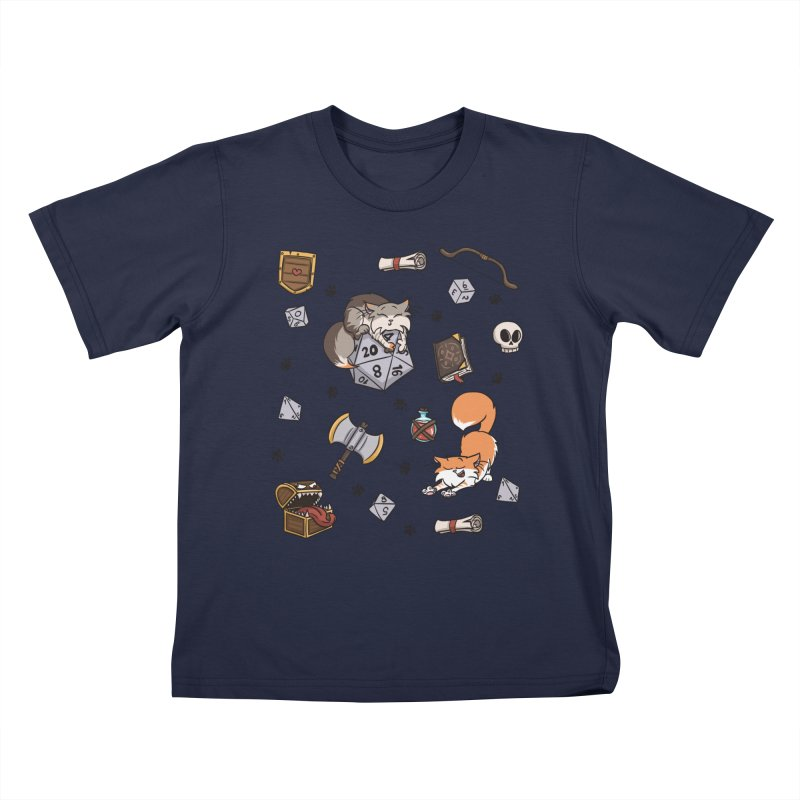 Dungeons and Kitties Kids T-Shirt by Semi Co-op