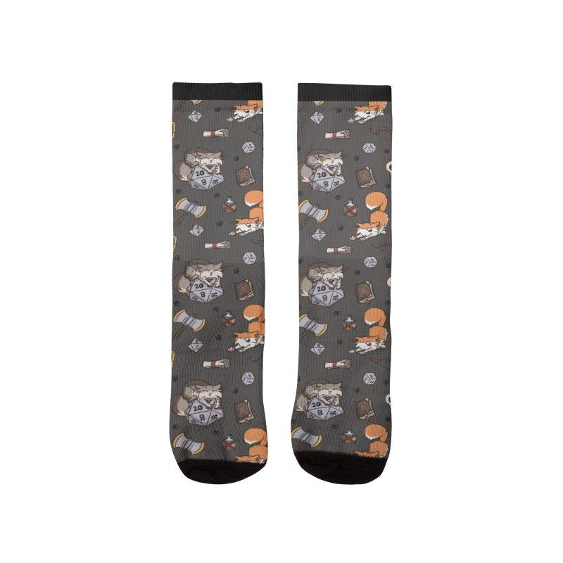 Dungeons and Kitties Men's Socks by Semi Co-op