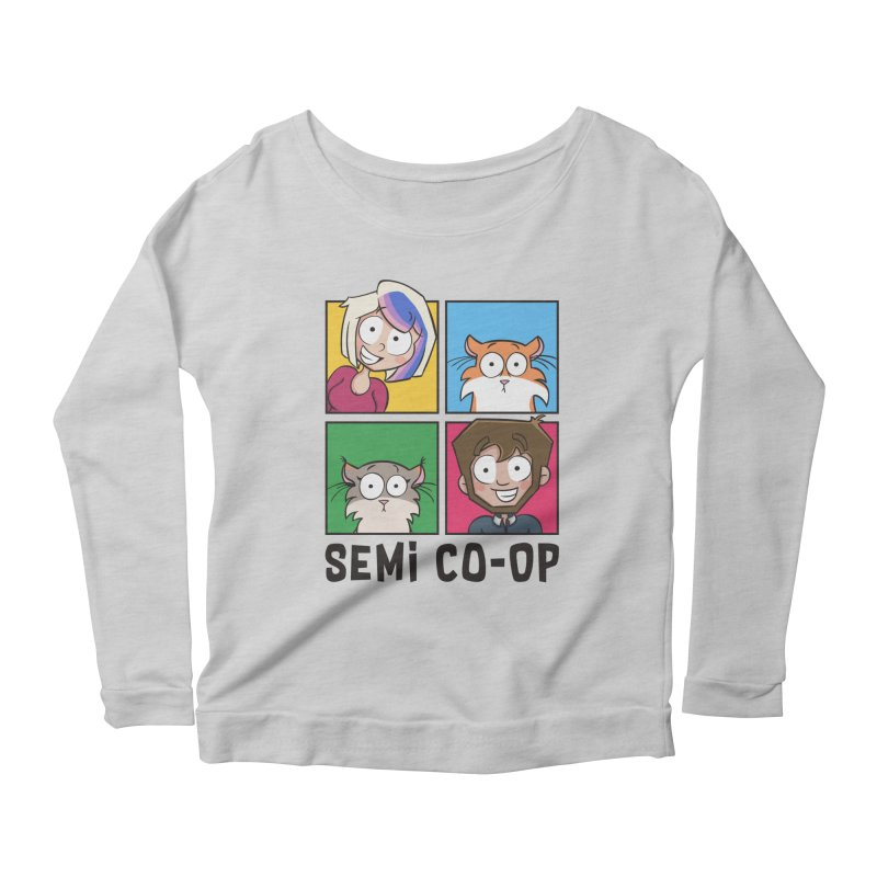Board game Bunch! (light) Women's Scoop Neck Longsleeve T-Shirt by Semi Co-op