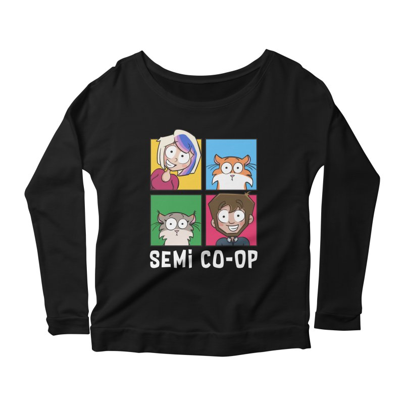 Board game Bunch! Women's Scoop Neck Longsleeve T-Shirt by Semi Co-op