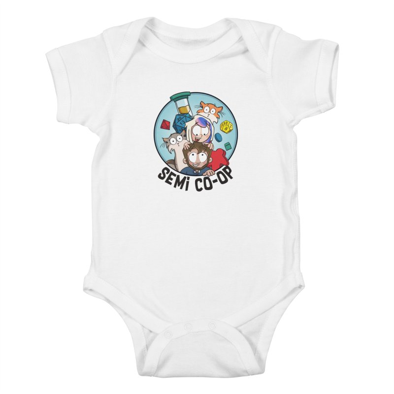 Semi Co-op Circle (light) Kids Baby Bodysuit by Semi Co-op