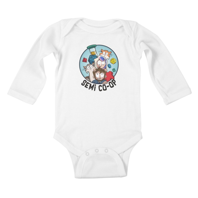 Semi Co-op Circle (light) Kids Baby Longsleeve Bodysuit by Semi Co-op