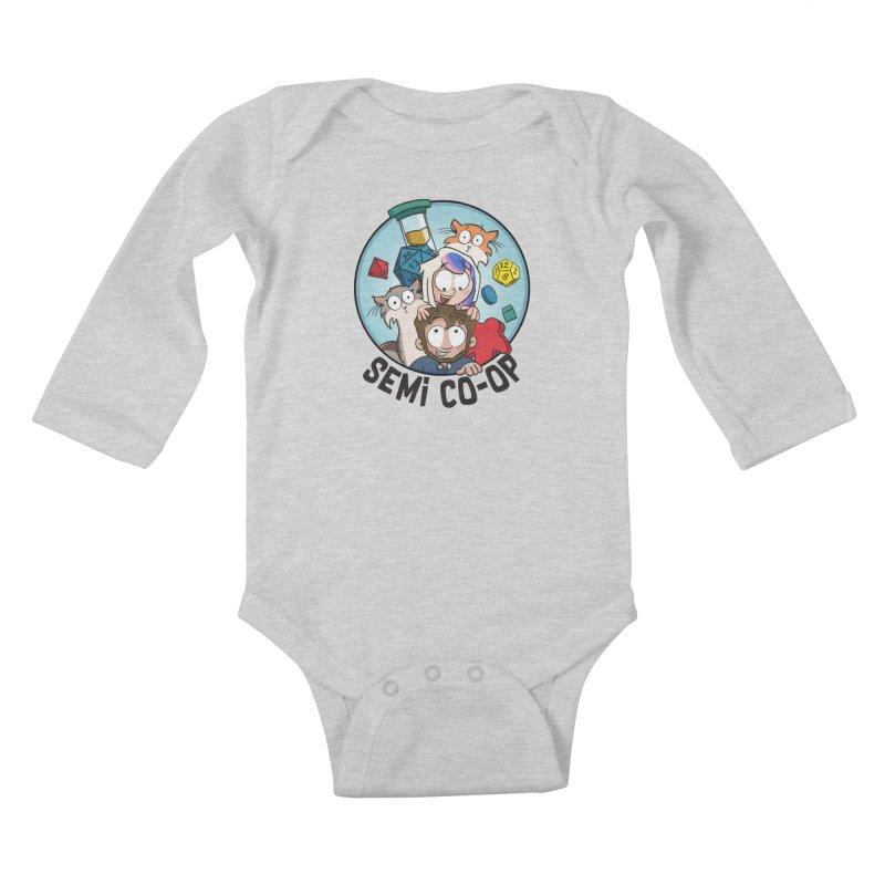 Semi Co-op Circle (light) Kids Baby Longsleeve Bodysuit by Semi Co-op