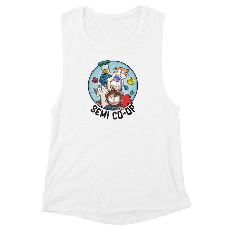 Semi Co-op Circle (light) Women's Muscle Tank by Semi Co-op