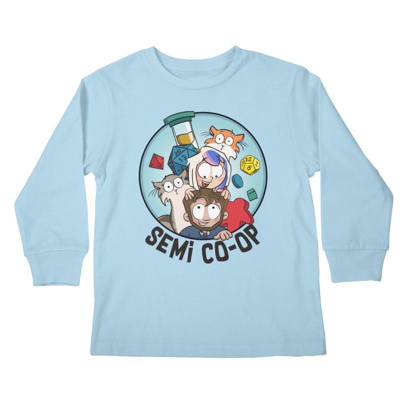 Semi Co-op Circle (light) Kids Longsleeve T-Shirt by Semi Co-op
