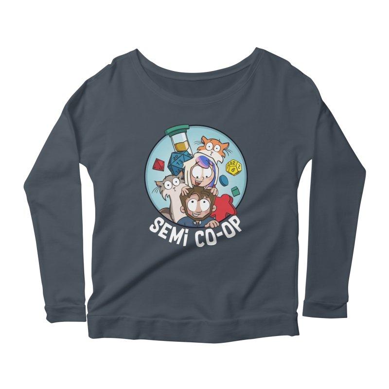 Semi Co-op Circle Women's Scoop Neck Longsleeve T-Shirt by Semi Co-op