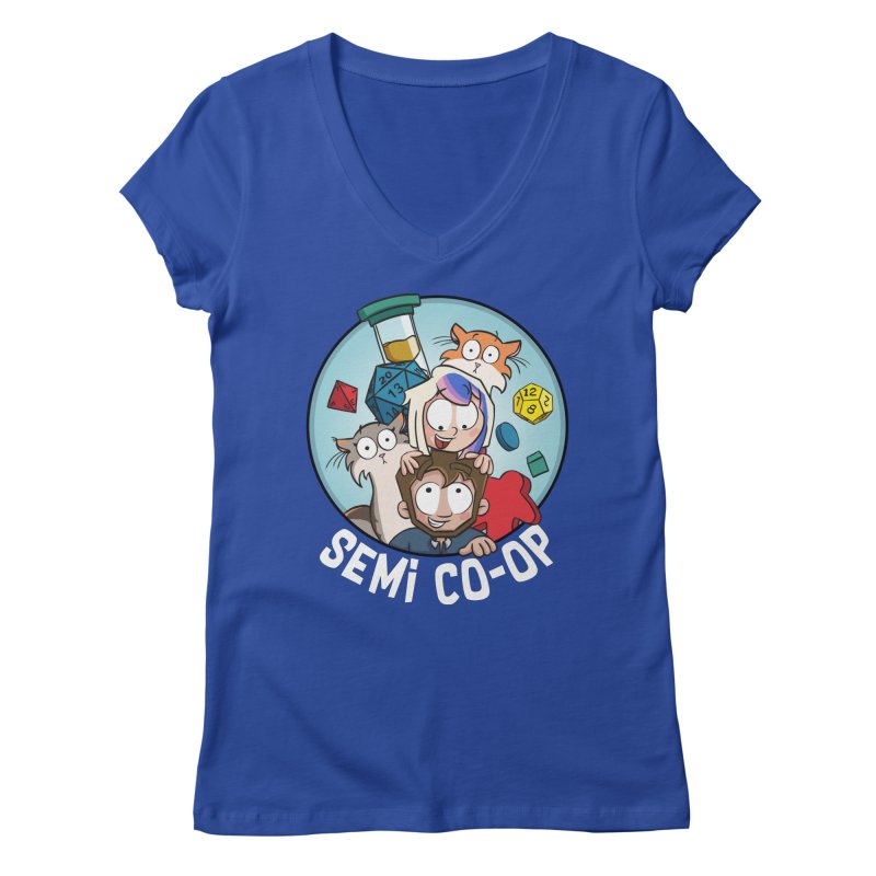 Semi Co-op Circle Women's Regular V-Neck by Semi Co-op
