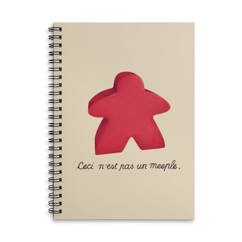 Ceci n'est pas un meeple Accessories Lined Spiral Notebook by Semi Co-op