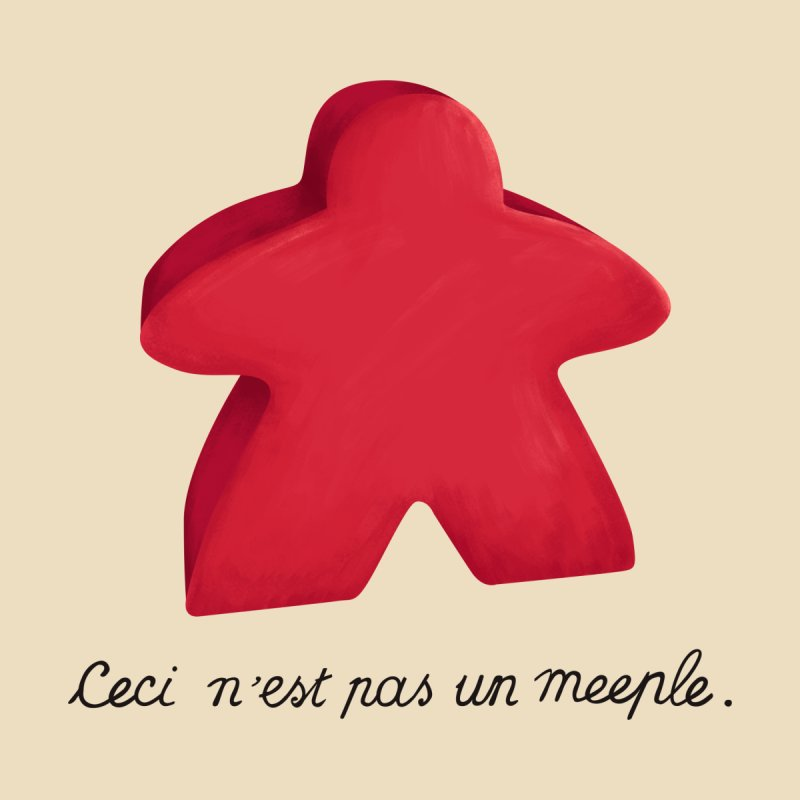 Ceci n'est pas un meeple Accessories Bag by Semi Co-op