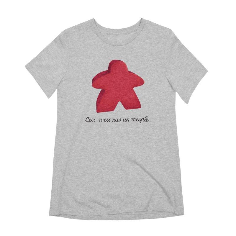 Ceci n'est pas un meeple Women's Extra Soft T-Shirt by Semi Co-op
