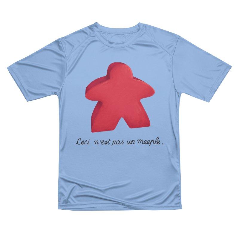 Ceci n'est pas un meeple Women's Performance Unisex T-Shirt by Semi Co-op
