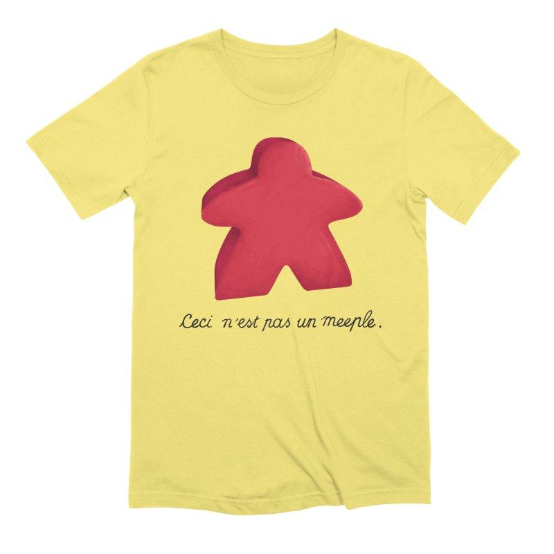 Ceci n'est pas un meeple Men's Extra Soft T-Shirt by Semi Co-op
