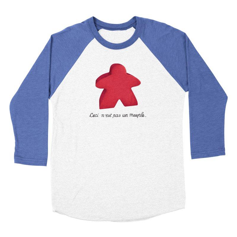 Ceci n'est pas un meeple Women's Longsleeve T-Shirt by Semi Co-op