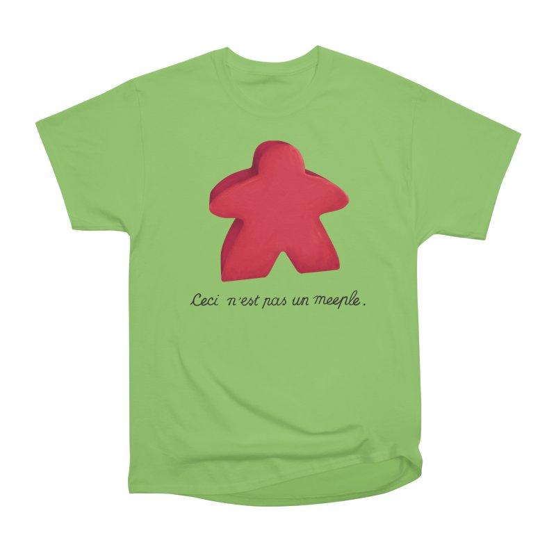 Ceci n'est pas un meeple Men's Heavyweight T-Shirt by Semi Co-op