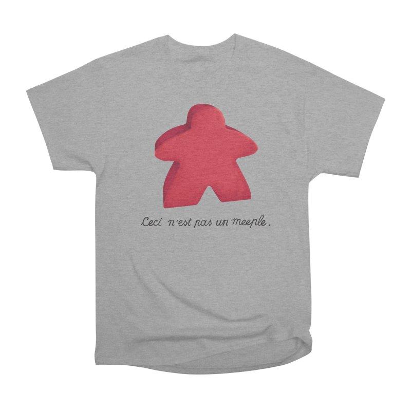 Ceci n'est pas un meeple Women's Heavyweight Unisex T-Shirt by Semi Co-op