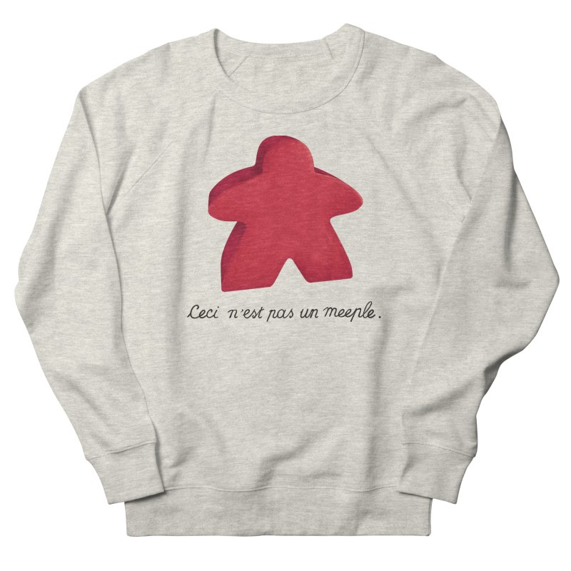 Ceci n'est pas un meeple Men's French Terry Sweatshirt by Semi Co-op