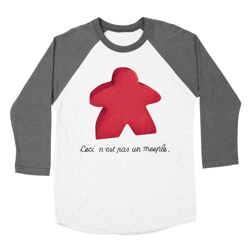 Ceci n'est pas un meeple Women's Baseball Triblend Longsleeve T-Shirt by Semi Co-op