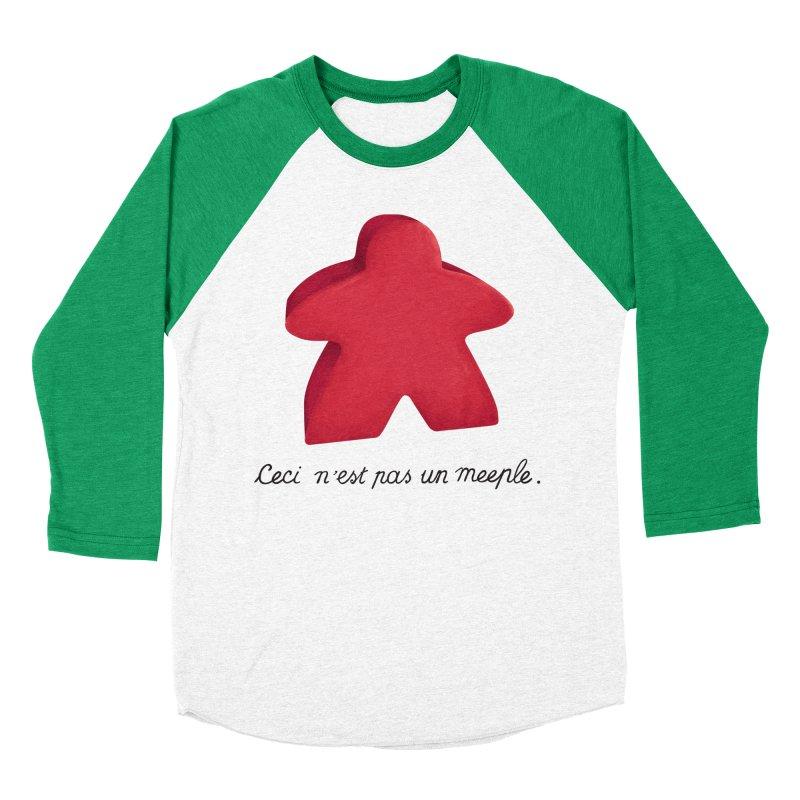 Ceci n'est pas un meeple Women's Baseball Triblend Longsleeve T-Shirt by Semi Co-op