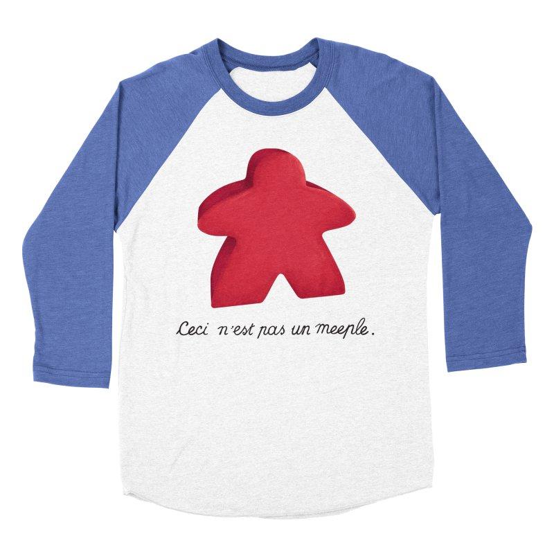 Ceci n'est pas un meeple Men's Baseball Triblend Longsleeve T-Shirt by Semi Co-op