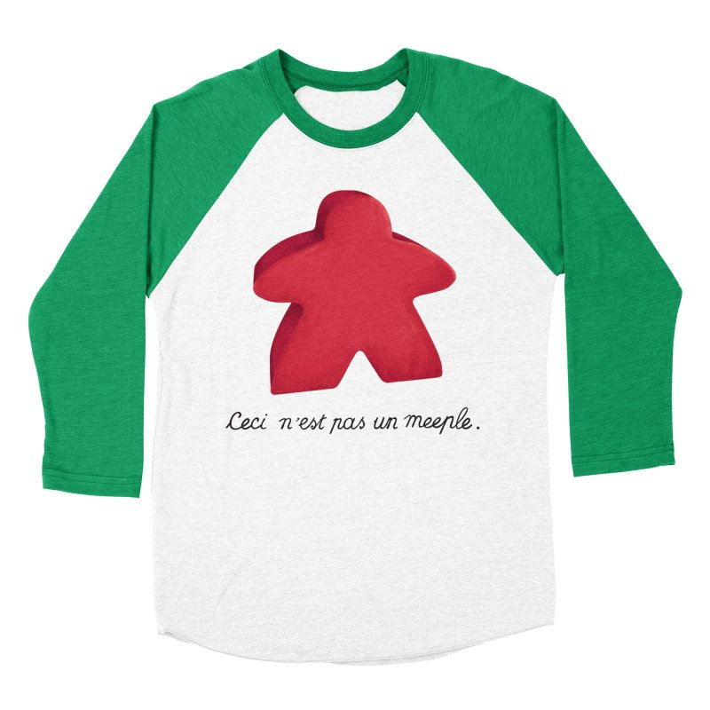 Ceci n'est pas un meeple Men's Baseball Triblend Longsleeve T-Shirt by Semi Co-op