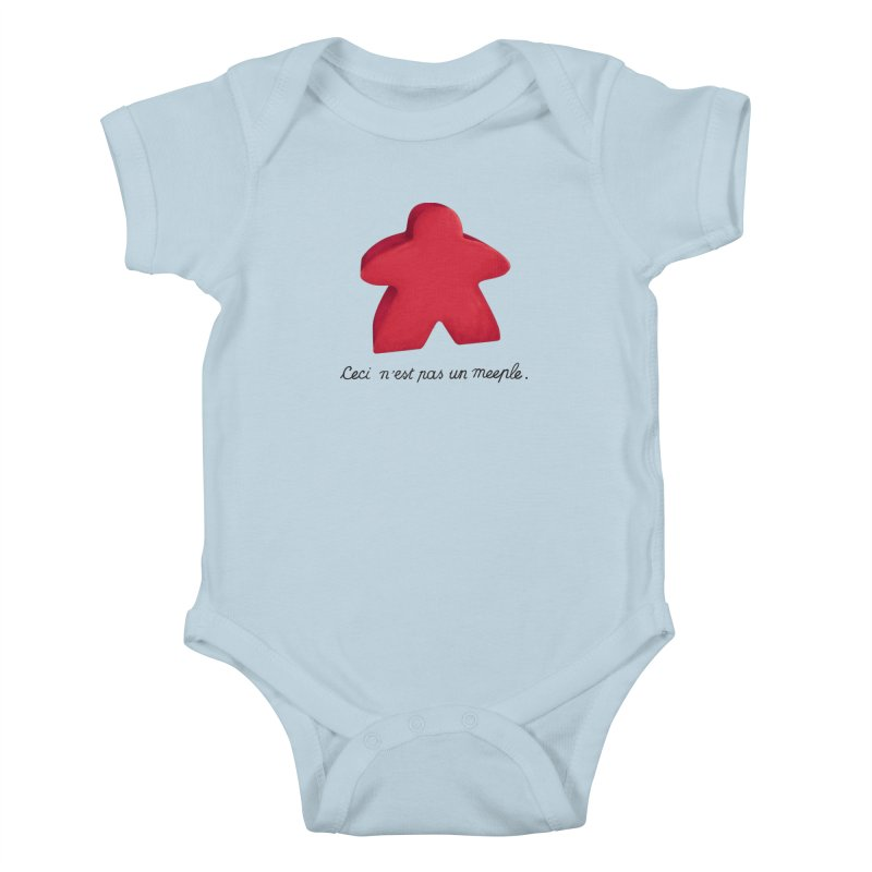 Ceci n'est pas un meeple Kids Baby Bodysuit by Semi Co-op