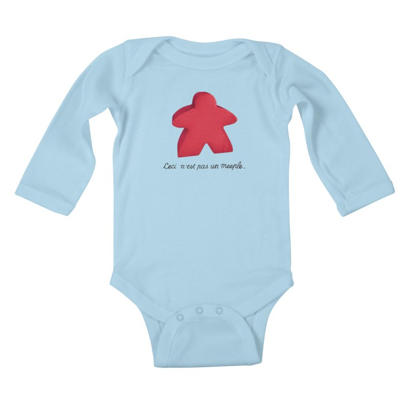Ceci n'est pas un meeple Kids Baby Longsleeve Bodysuit by Semi Co-op