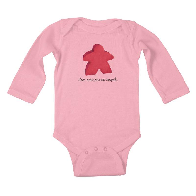 Ceci n'est pas un meeple Kids Baby Longsleeve Bodysuit by Semi Co-op