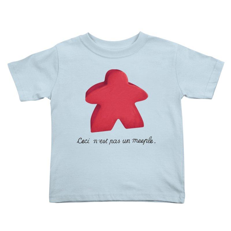 Ceci n'est pas un meeple Kids Toddler T-Shirt by Semi Co-op