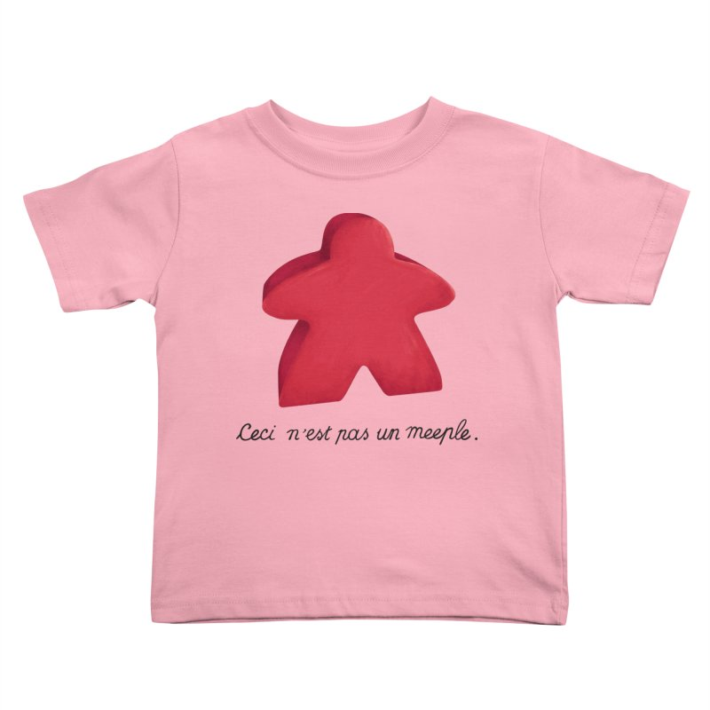 Ceci n'est pas un meeple Kids Toddler T-Shirt by Semi Co-op