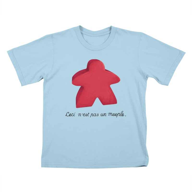 Ceci n'est pas un meeple Kids T-Shirt by Semi Co-op