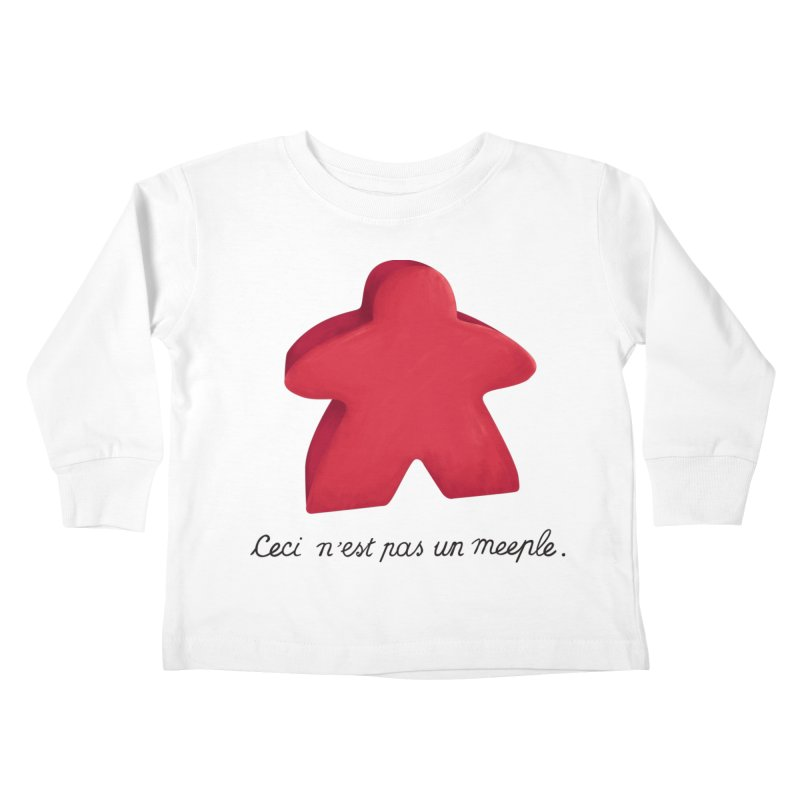 Ceci n'est pas un meeple Kids Toddler Longsleeve T-Shirt by Semi Co-op