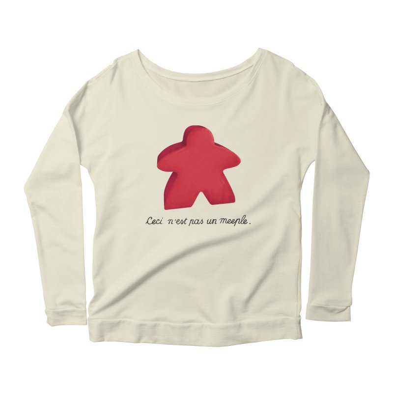 Ceci n'est pas un meeple Women's Scoop Neck Longsleeve T-Shirt by Semi Co-op