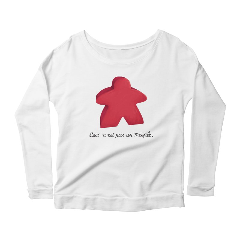 Ceci n'est pas un meeple Women's Scoop Neck Longsleeve T-Shirt by Semi Co-op