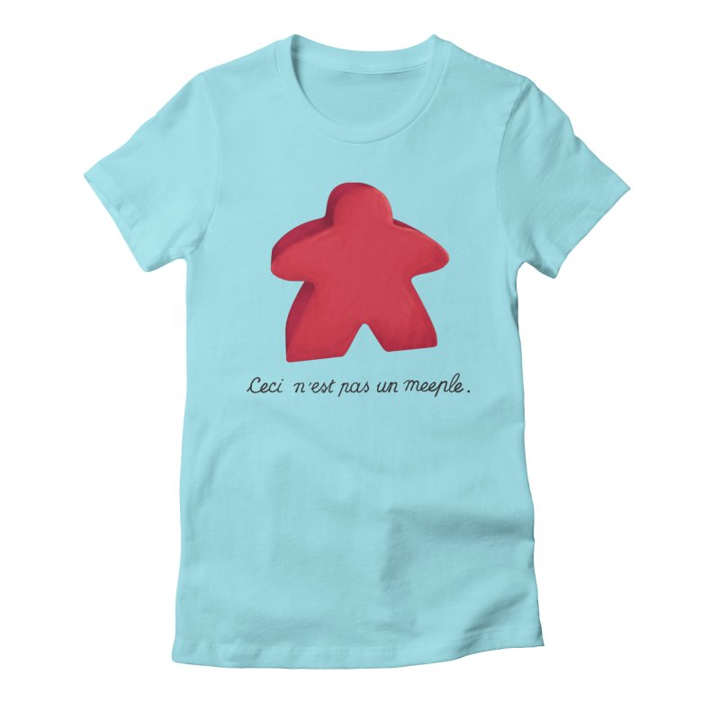 Ceci n'est pas un meeple Women's Fitted T-Shirt by Semi Co-op