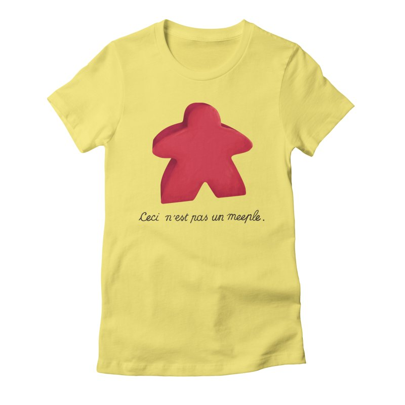 Ceci n'est pas un meeple Women's T-Shirt by Semi Co-op