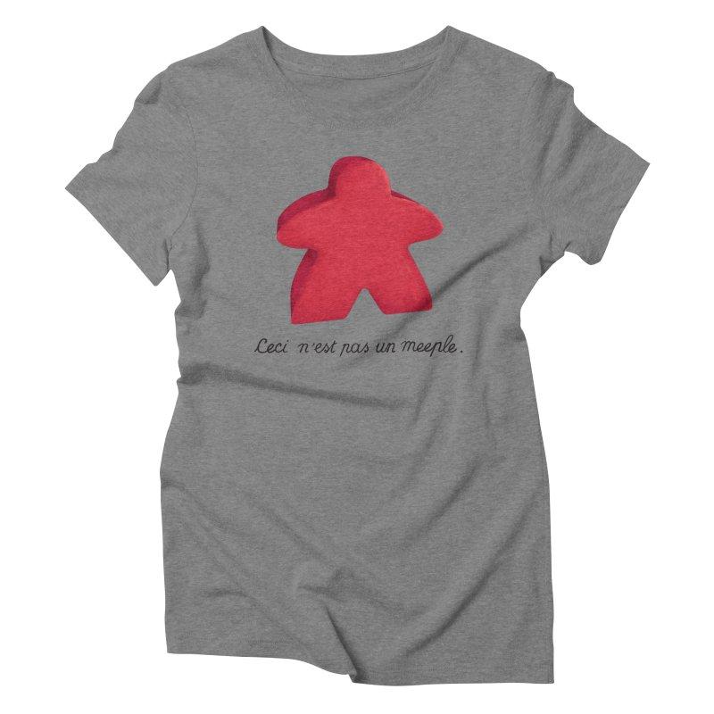 Ceci n'est pas un meeple Women's Triblend T-Shirt by Semi Co-op