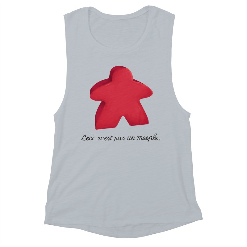 Ceci n'est pas un meeple Women's Muscle Tank by Semi Co-op