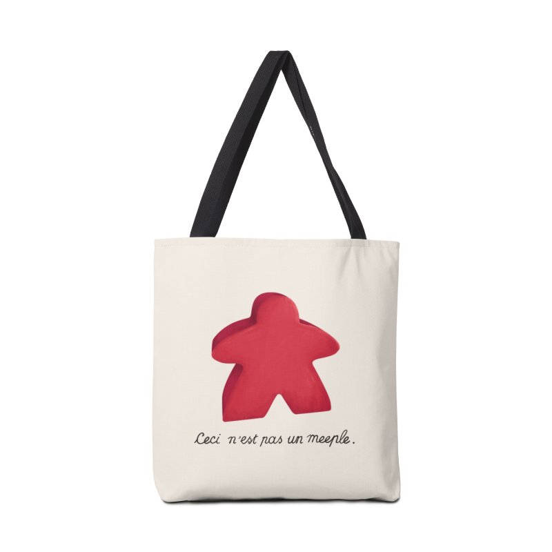 Ceci n'est pas un meeple in Tote Bag by Semi Co-op
