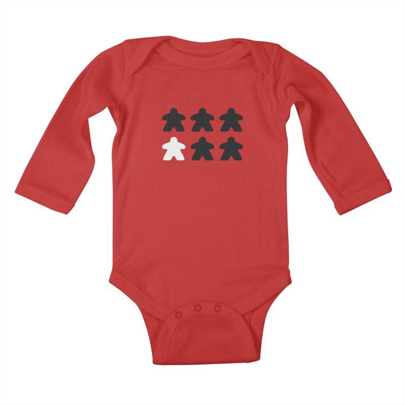 Simply Meeples Kids Baby Longsleeve Bodysuit by Semi Co-op