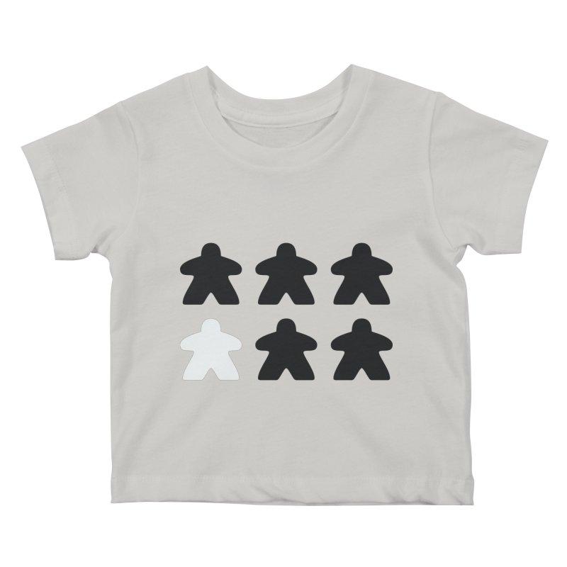 Simply Meeples Kids Baby T-Shirt by Semi Co-op