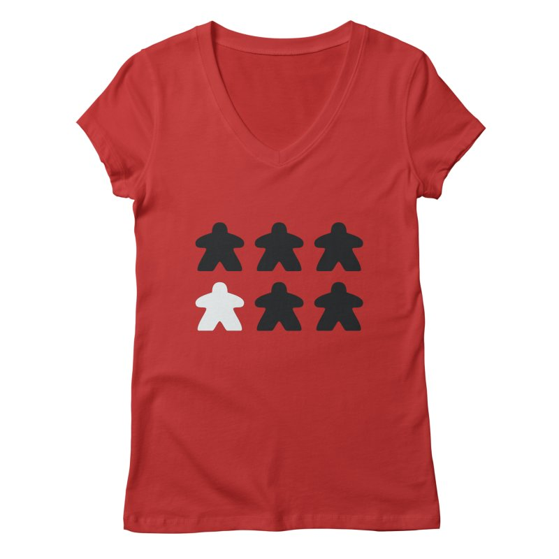 Simply Meeples Women's Regular V-Neck by Semi Co-op
