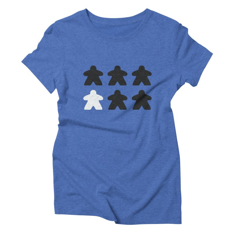 Simply Meeples Women's Triblend T-Shirt by Semi Co-op