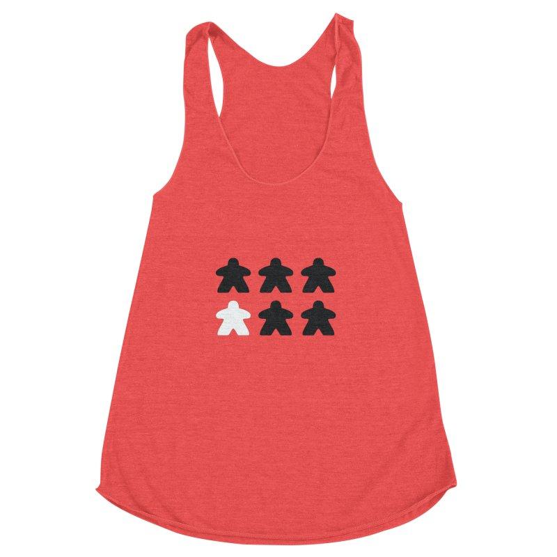 Simply Meeples Women's Racerback Triblend Tank by Semi Co-op