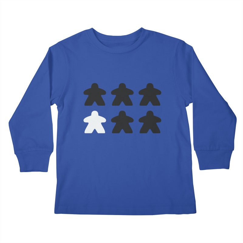 Simply Meeples Kids Longsleeve T-Shirt by Semi Co-op