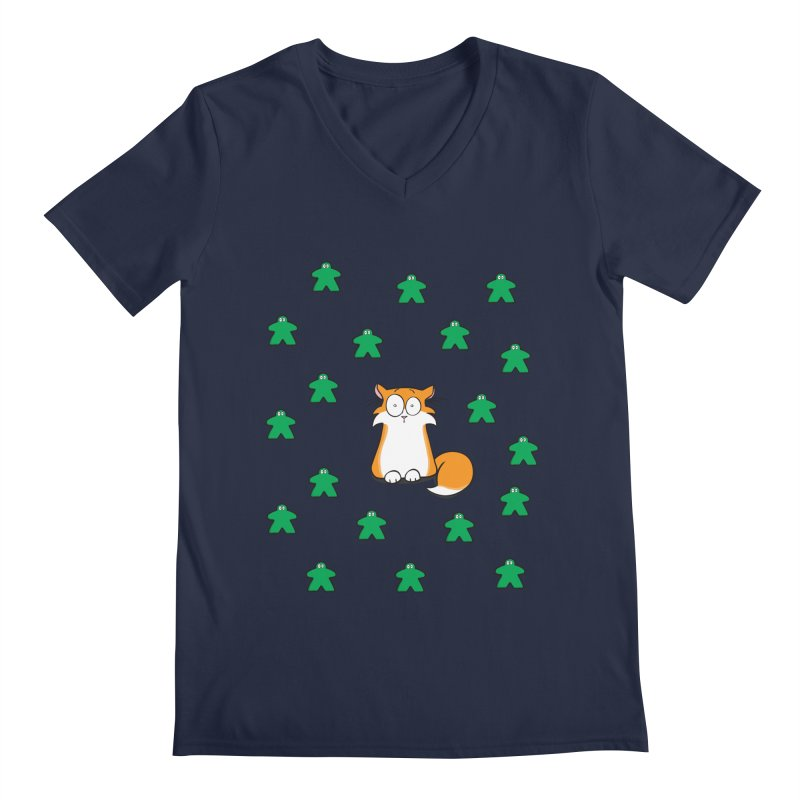 Apollo and the Meeples Men's Regular V-Neck by Semi Co-op
