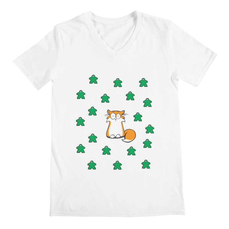 Apollo and the Meeples Men's V-Neck by Semi Co-op